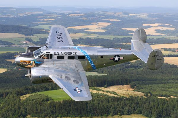 Beech C-45H Expeditor Air to Air